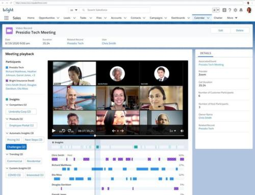Salesforce improves virtual sales : Meetings, Einstein Video Call Coaching