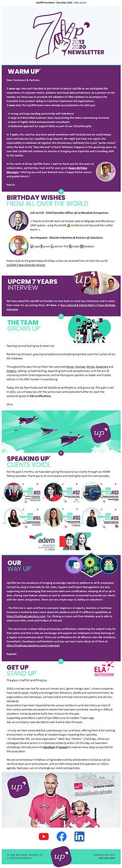 UpCRM Newsletter