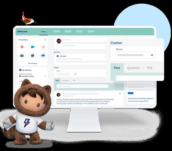 Salesforce HR apps digital workspace